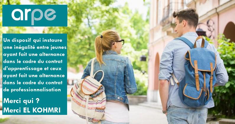 ARPE, une mesure moralement discriminatoire entre jeunes en apprentissage et jeunes en contrat pro