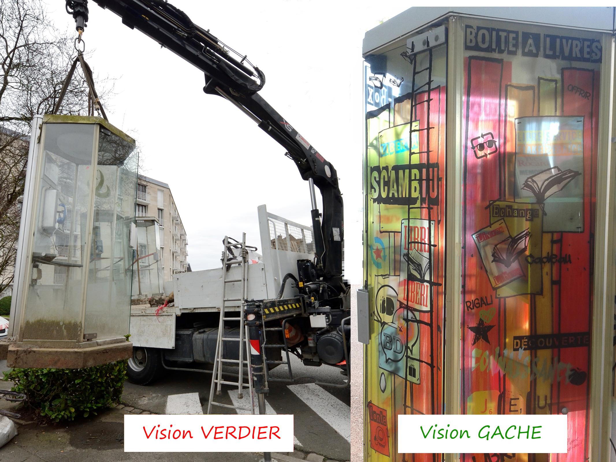 Cabines téléphoniques : Le projet F.VERDIER contre le projet C.GACHE où deux visions opposées de l'aménagement du territoire sur la 4ème circonscription