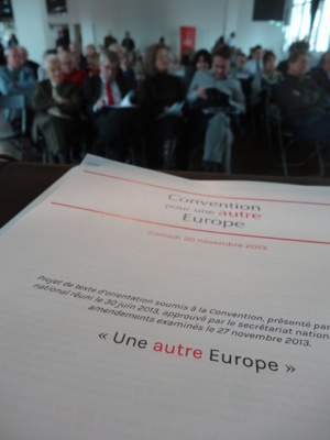 Sam. 30 Nov. 2013 Convention pour une autre Europe