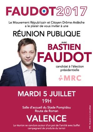 5 juillet 2016 à Valence, réunion publique avec Bastien FAUDOT
