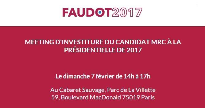 Election présidentielle : Bastien FAUDOT Le candidat de la gauche républicaine