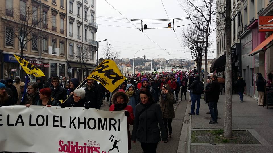 """Le MRC se mobilise à Lyon contre la loi sur le travail, la """"loi El-khomri"""""""
