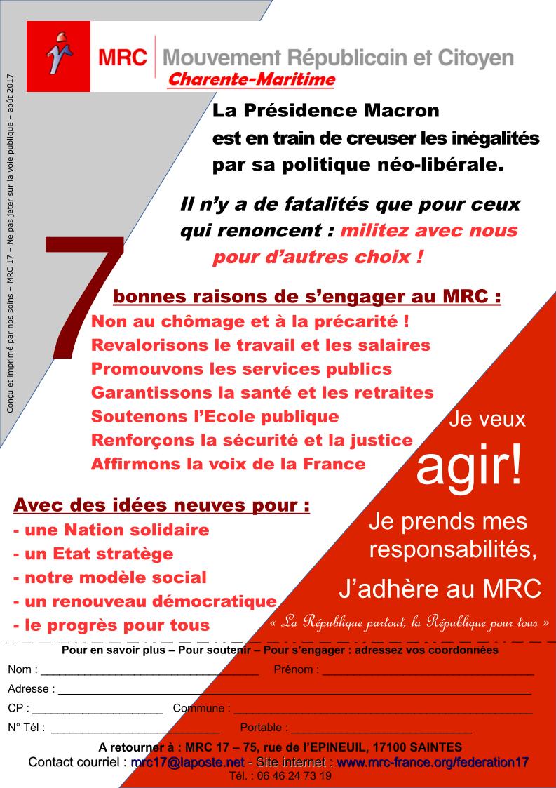 "tract MRC 17 ""prendre ses responsabilités"" - août 2017"