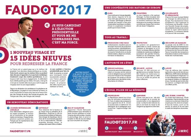 Faudot 2017, le Nouveau visage de la Politique en 15 idées NEUVES