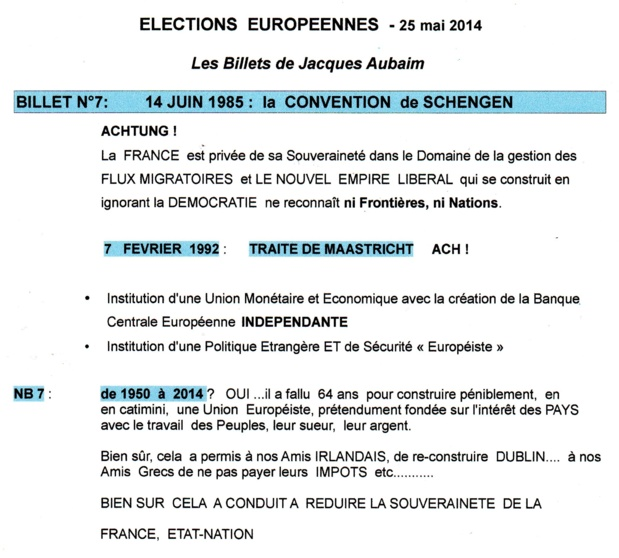 ELECTIONS  EUROPEENNES  2014