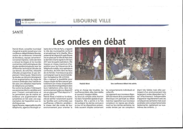 Libourne vigilance : ondes conférence débat