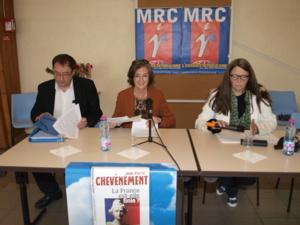 De droite à gauche Sylvie Schwarz Marie-Françoise Bechtel et Jean-Philippe Lefranc