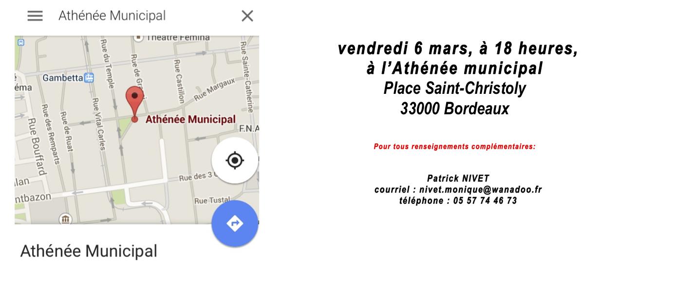 l'Athénée Municipal Martine Souvignet
