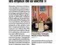 Mardi 11 Décembre 2018 Journée de la Laïcité, la Libre Pensée de la Dordogne et le Mouvement Républicain et Citoyen de la Gironde