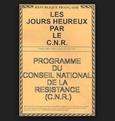 Front populaire du XXIème siècle ou nouveau programme du Conseil National de la Résistance?