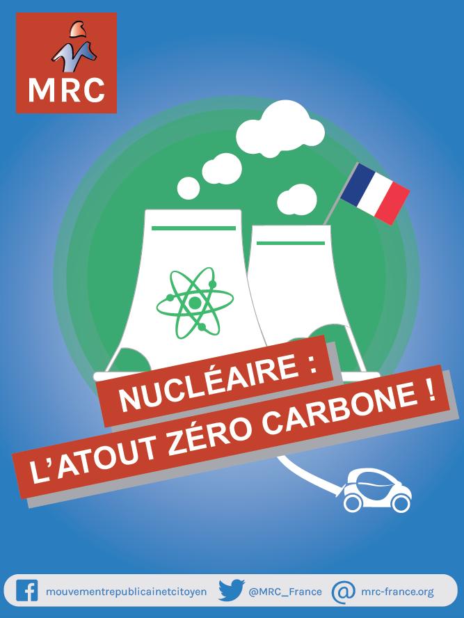Le Mouvement Républicain et Citoyen défend le nucléaire