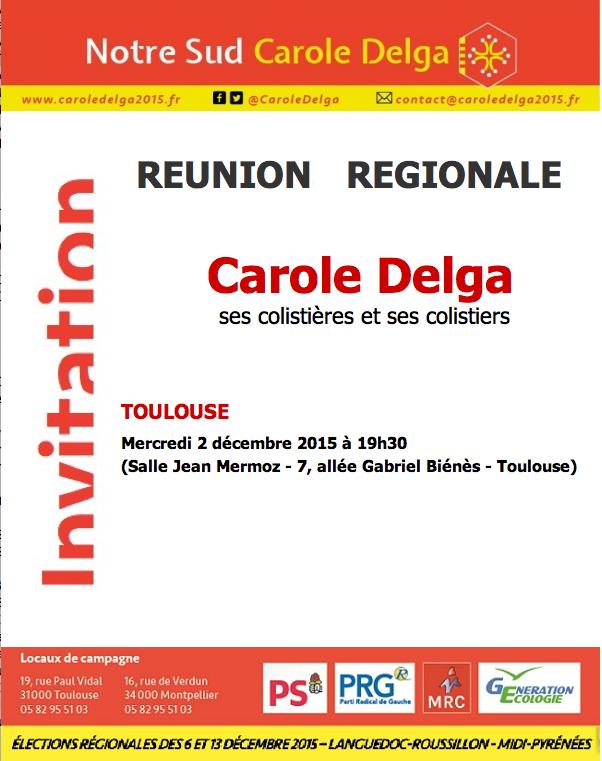 RÉUNION RÉGIONALE   CE SOIR 19H30 À TOULOUSE
