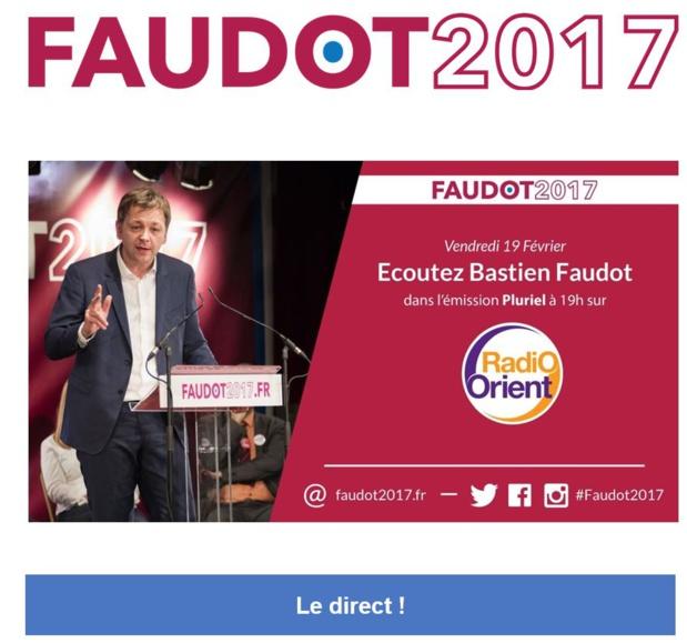 Bastien Faudot le Vendredi 19 Février 19:00 sur Radio Orient