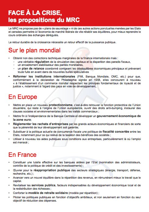 Verso du tract