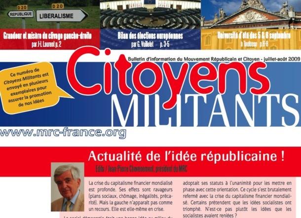 Distribuez le dernier numéro de Citoyens Militants