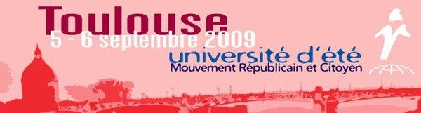 Le programme de l'université d'été du Mouvement Républicain et Citoyen