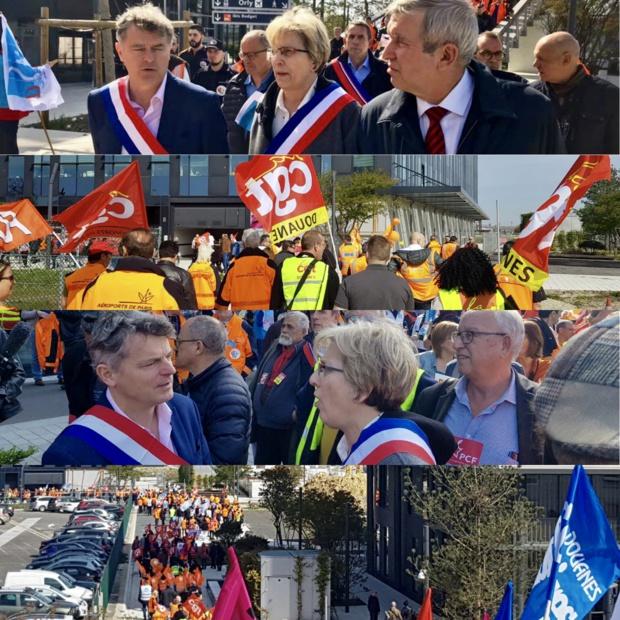 Privatisation ADP : une mobilisation réussie à Orly !