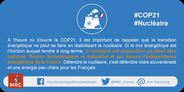 """Affiche et visuels COP21 : """"Nucléaire : l'atout zéro carbone !"""""""