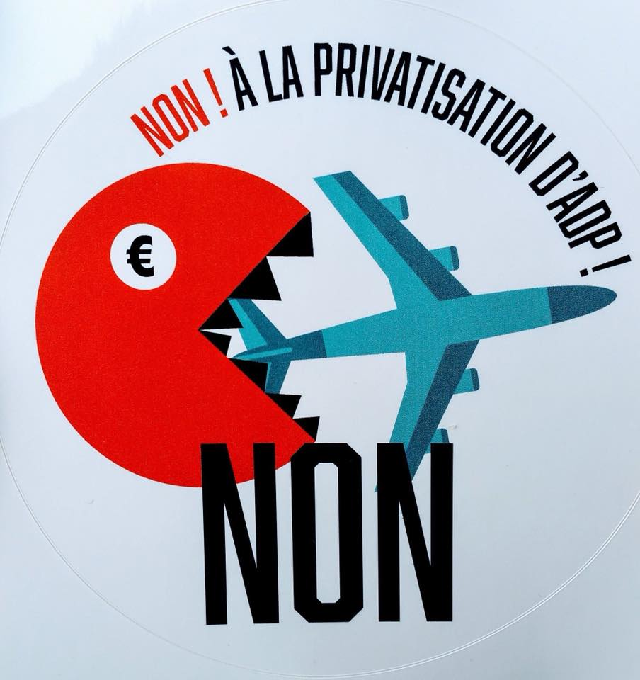 Non à la privatisation d'Aéroport de Paris !