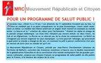 """Téléchargez et distribuez le tract : """"Pour un programme de salut public !"""""""
