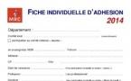 Bulletin d'adhésion au MRC (2014)